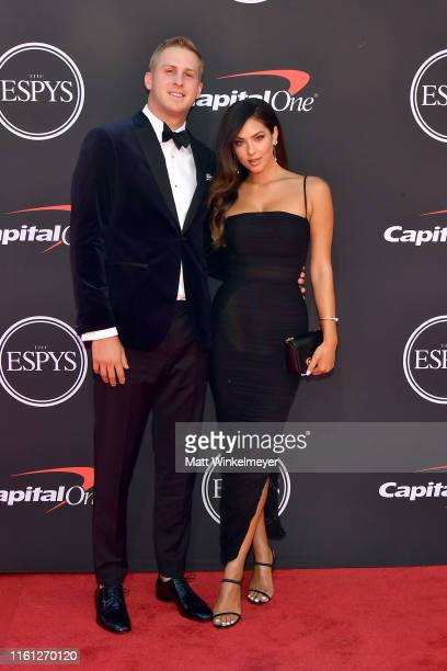 Jared Goff and Christen Harper attend The 2019 ESPYs at Microsoft Theater on July 10, 2019 in Los Angeles, California.