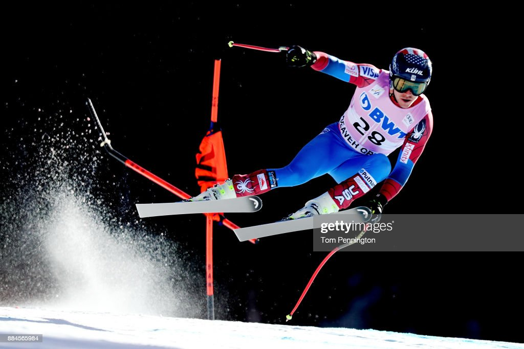 Jared Goldberg of the United States competes in the Audi Birds of Prey World Cup Men's Downhill on December 2, 2017 in Beaver Creek, Colorado.