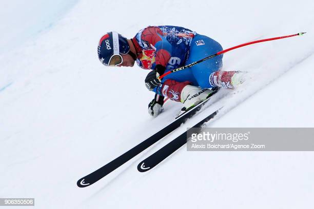 Jared Goldberg of USA competes during the Audi FIS Alpine Ski World Cup Men's Downhill Training on January 18 2018 in Kitzbuehel Austria
