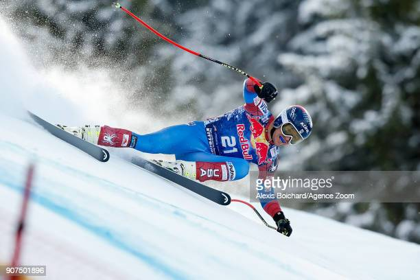 Jared Goldberg of USA competes during the Audi FIS Alpine Ski World Cup Men's Downhill on January 20 2018 in Kitzbuehel Austria