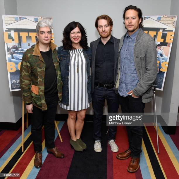Jared Goldman Annie J Howell Rob Meyer and Cary Joji Fukunaga attend the Little Boxes New York Screening at Village East Cinema on April 14 2017 in...
