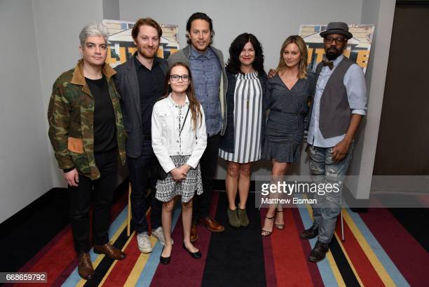 Jared Goldman Rob Meyer Oona Laurence Cary Joji Fukunaga Annie J Howell Christine Taylor and Nelsan Ellis attend the 'Little Boxes' New York...