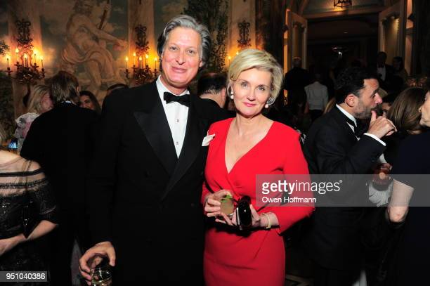 Jared Goss and Mila Harris attends The Hort's New York Flower Show Dinner Dance at The Pierre Hotel on April 24 2018 in New York City