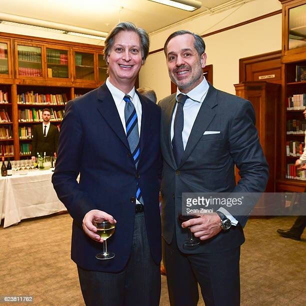 Jared Goss and Steven Gambrel attend Ben Pentreath Lecture at the Institute of Classical Architecture Art at General Society Library on November 7...