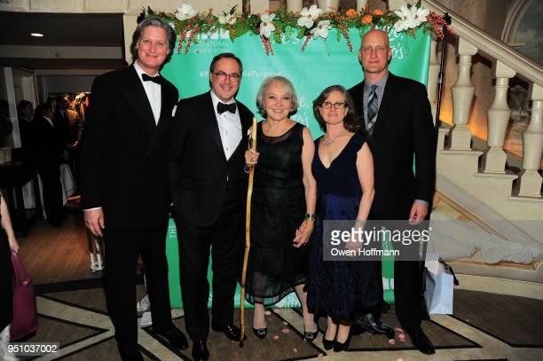 Jared Goss Gil Schafer Sharon Casdin Sara Hobel and George Pisegna attends The Hort's New York Flower Show Dinner Dance at The Pierre Hotel on April...
