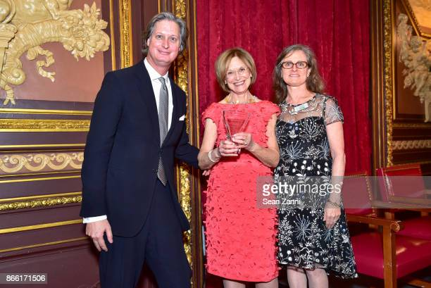Jared Goss Huguette Hersch and Sara Hobel attend Putting Good Food on the Table The Horticultural Society of New York's Annual Fall Luncheon Putting...