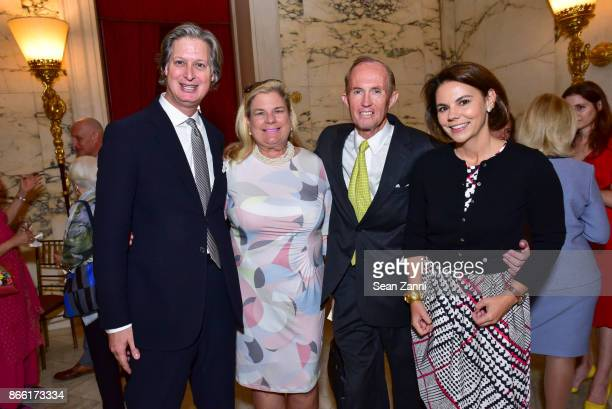 Jared Goss Mary Van Pelt Mark Gilbertson and Evelyn Tompkins attend Putting Good Food on the Table The Horticultural Society of New York's Annual...