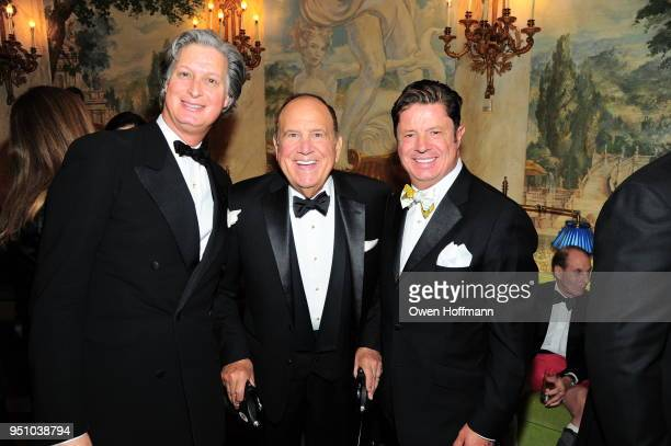 Jared Goss Michael Kovner and Jean Doyen de Montaillou attends The Hort's New York Flower Show Dinner Dance at The Pierre Hotel on April 24 2018 in...