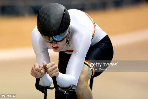 Jared Gray of Waikato Bay of Plenty competes in the Elite Men 4000m Individual Pursuit during the New Zealand Track Cycling Championships on February...