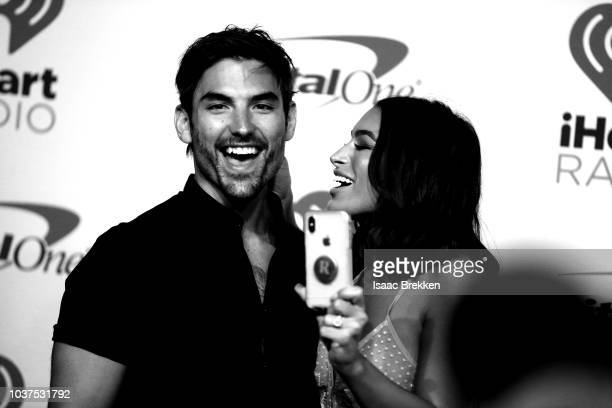 Jared Haibon and Ashley Iaconetti attend the 2018 iHeartRadio Music Festival at TMobile Arena on September 21 2018 in Las Vegas Nevada