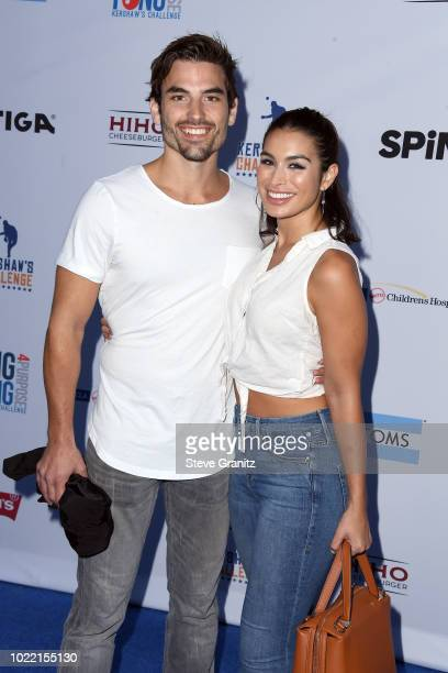 Jared Haibon and Ashley Iaconetti attend the 6th annual PingPong4Purpose at Dodger Stadium on August 23 2018 in Los Angeles California