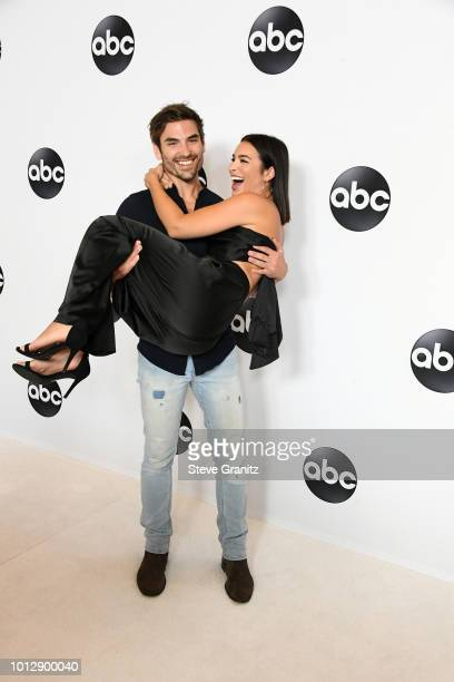 Jared Haibon and Ashley Iaconetti attend the Disney ABC Television TCA Summer Press Tour at The Beverly Hilton Hotel on August 7 2018 in Beverly...