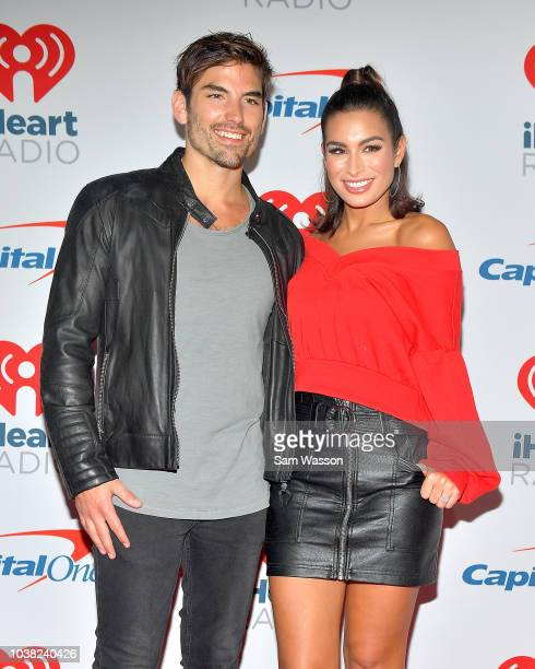 Jared Haibon and Ashley Iaconetti attend the iHeartRadio Music Festival at TMobile Arena on September 22 2018 in Las Vegas Nevada