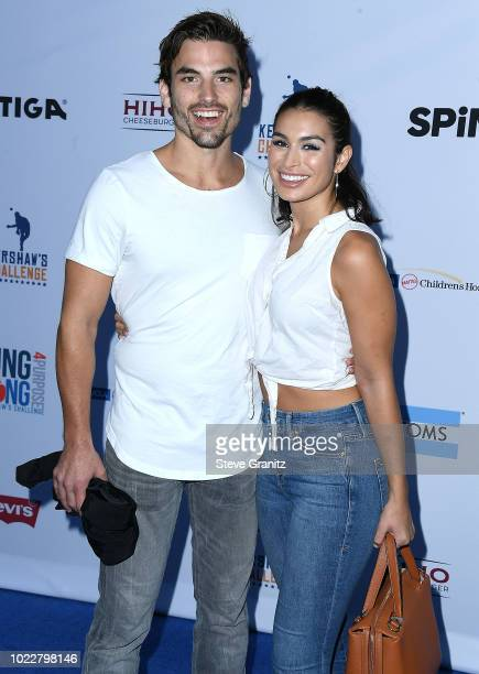 Jared Haibon Ashley Iaconetti arrives at the 6th Annual PingPong4Purpose at Dodger Stadium on August 23 2018 in Los Angeles California