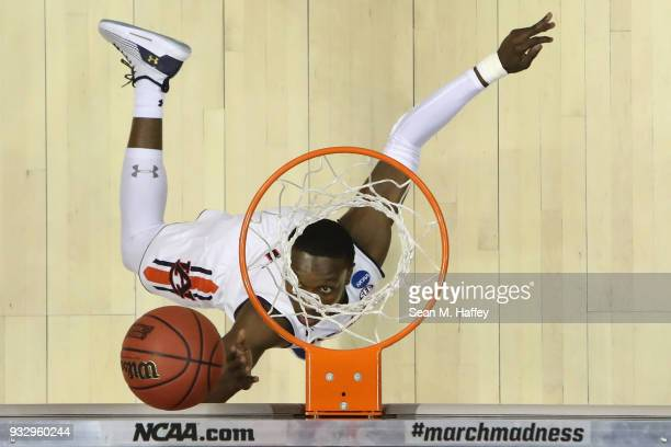 Jared Harper of the Auburn Tigers goes up for a shot against the Charleston Cougars in the second half in the first round of the 2018 NCAA Men's...