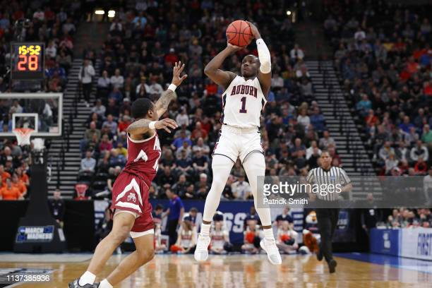 Jared Harper of the Auburn Tigers shoots the ball during the first half against the New Mexico State Aggies in the first round of the 2019 NCAA Men's...