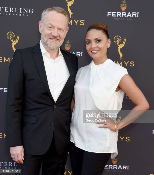 Jared Harris and Allegra Riggio arrive at the Television Academy's Performers Peer Group Celebration at Saban Media Center on August 25 2019 in North...