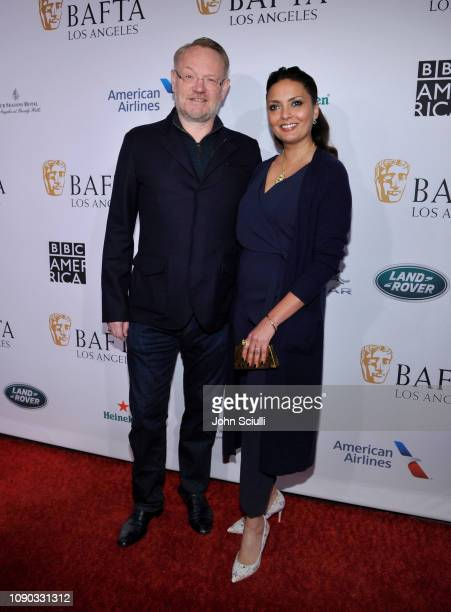 Jared Harris and Allegra Riggio arrive to the BAFTA Tea Party at The Four Seasons Hotel Los Angeles at Beverly Hills on January 05 2019 in Beverly...