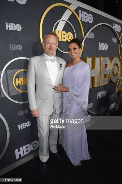 Jared Harris and Allegra Riggio attend HBO's Official 2019 Emmy After Party on September 22 2019 in Los Angeles California