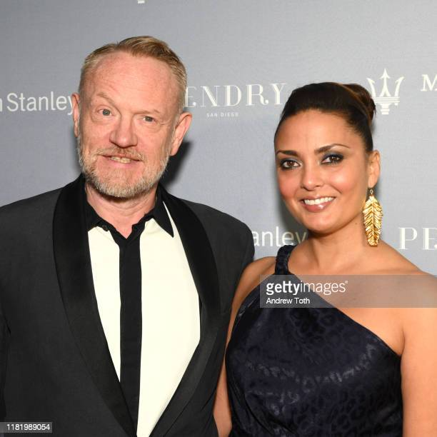 Jared Harris and Allegra Riggio attend Night of the Stars during the San Diego International Film Festival at Pendry San Diego on October 18 2019 in...