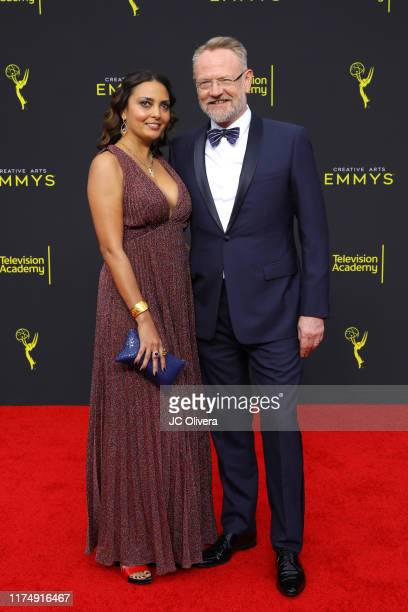 Jared Harris and Allegra Riggio attend the 2019 Creative Arts Emmy Awards on September 15 2019 in Los Angeles California