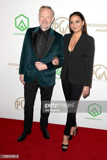 Jared Harris and Allegra Riggio attend the 31st Annual Producers Guild Awards at Hollywood Palladium on January 18, 2020 in Los Angeles, California.