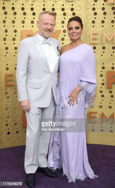 Jared Harris and Allegra Riggio attend the 71st Emmy Awards at Microsoft Theater on September 22 2019 in Los Angeles California