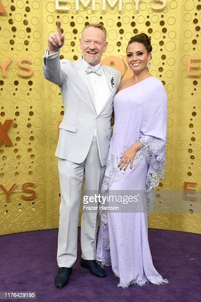 Jared Harris and Allegra Riggio attend the 71st Emmy Awards at Microsoft Theater on September 22, 2019 in Los Angeles, California.