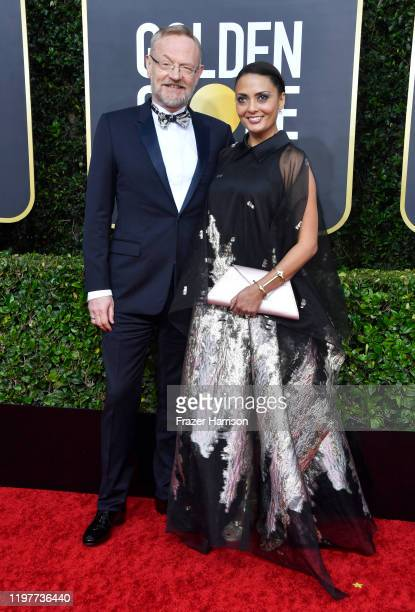 Jared Harris and Allegra Riggio attend the 77th Annual Golden Globe Awards at The Beverly Hilton Hotel on January 05 2020 in Beverly Hills California