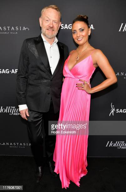 Jared Harris and Allegra Riggio attend The Hollywood Reporter and SAGAFTRA Celebrate Emmy Award Contenders at Annual Nominees Night on September 20...