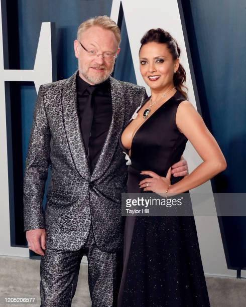Jared Harris and Allegra Riggio attends the 2020 Vanity Fair Oscar Party at Wallis Annenberg Center for the Performing Arts on February 09 2020 in...