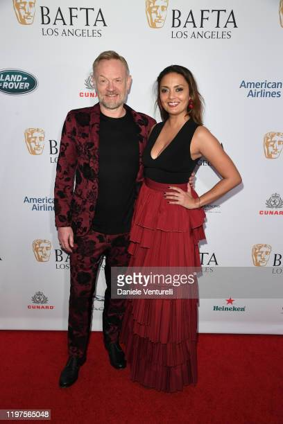Jared Harris and Allegra Riggio attends The BAFTA Los Angeles Tea Party at Four Seasons Hotel Los Angeles at Beverly Hills on January 04 2020 in Los...