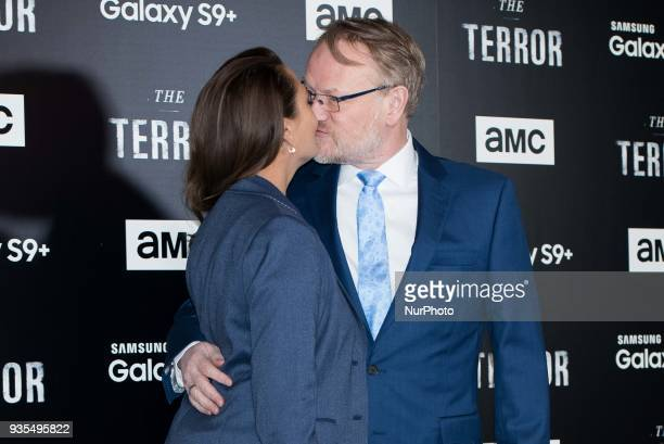 Jared Harris and Allegra Riggio attends 'The Terror' AMC serie premiere in Madrid on March 20 2018