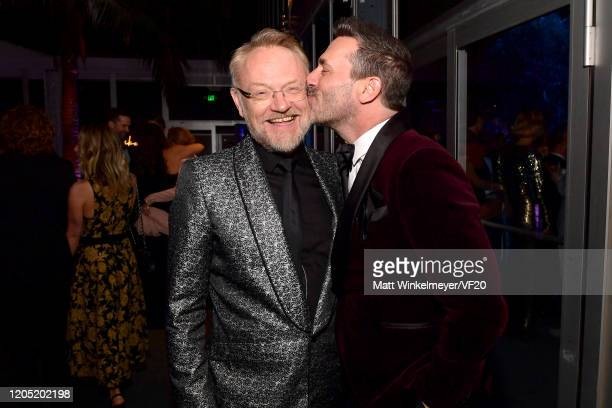 Jared Harris and Jon Hamm attend the 2020 Vanity Fair Oscar Party hosted by Radhika Jones at Wallis Annenberg Center for the Performing Arts on...