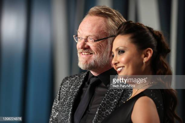 Jared Harris and Mishna Wolff attends the 2020 Vanity Fair Oscar Party hosted by Radhika Jones at Wallis Annenberg Center for the Performing Arts on...