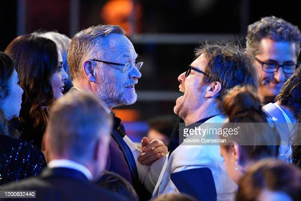 Jared Harris and Sam Rockwell attend the 26th Annual Screen ActorsGuild Awards at The Shrine Auditorium on January 19 2020 in Los Angeles California...