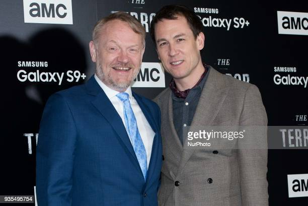 Jared Harris and Tobias Menzies attend 'The Terror' AMC serie premiere in Madrid on March 20 2018
