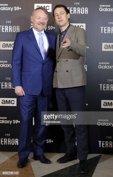 Jared Harris and Tobias Menzies attend 'The Terror' premiere at the Teatro de la Luz Philips on March 20 2018 in Madrid Spain
