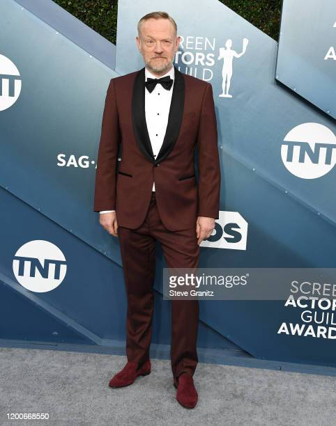 Jared Harris arrives at the 26th Annual Screen ActorsGuild Awards at The Shrine Auditorium on January 19 2020 in Los Angeles California
