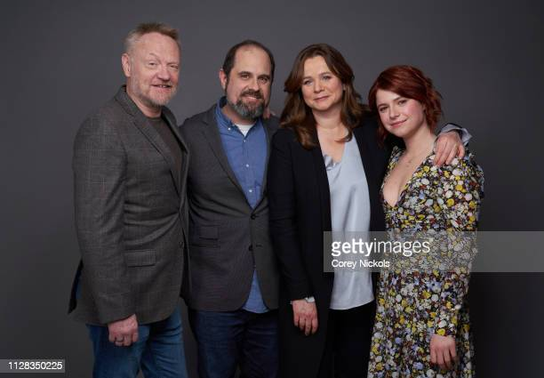 Jared Harris Craig Mazin Emily Watson and Jessie Buckley of HBO's 'Chernobyl' pose for a portrait during the 2019 Winter TCA Portrait Studio at The...