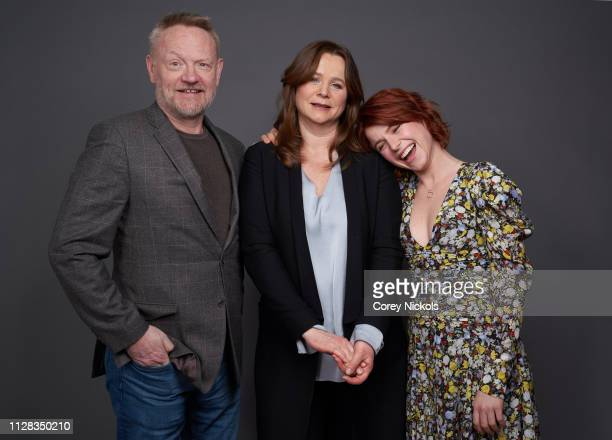 Jared Harris, Emily Watson, and Jessie Buckley of HBO's 'Chernobyl' pose for a portrait during the 2019 Winter TCA Portrait Studio at The Langham...