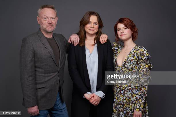 Jared Harris Emily Watson and Jessie Buckley of HBO's 'Chernobyl' pose for a portrait during the 2019 Winter TCA Portrait Studio at The Langham...