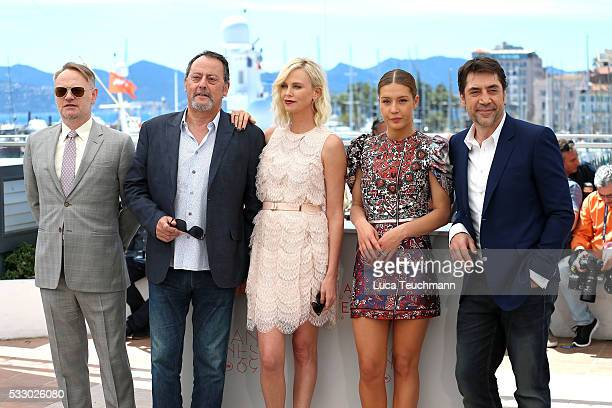 Jared Harris Jean Reno Charlize Theron Adele Exarchopoulos and Javier Bardem attend 'The Last Face' Photocall during the 69th annual Cannes Film...