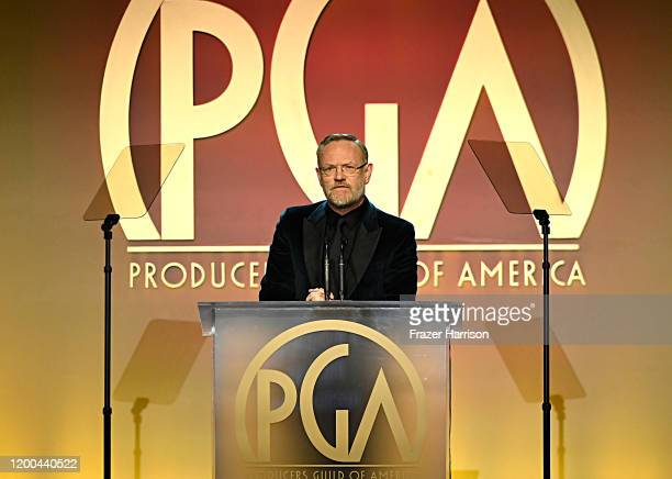 Jared Harris speaks onstage during the 31st Annual Producers Guild Awards at Hollywood Palladium on January 18, 2020 in Los Angeles, California.