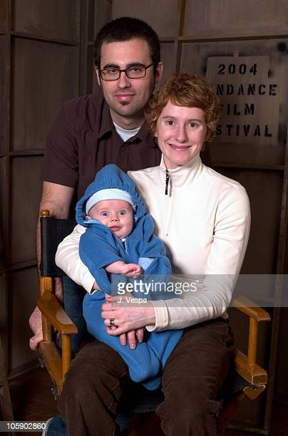 Jared Hess, director, Jerusha Hess, screen writer and baby Elliot Hess