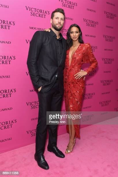 Jared Homan and Lais Ribeiro attend 2017 Victoria's Secret Fashion Show In Shanghai After Party at MercedesBenz Arena on November 20 2017 in Shanghai...
