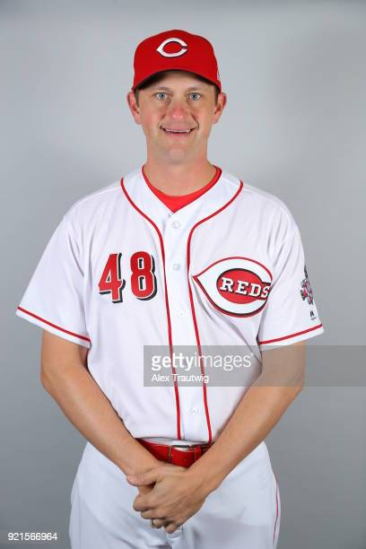 Jared Hughes of the Cincinnati Reds poses during Photo Day on Tuesday February 20 2018 at Goodyear Ballpark in Goodyear Arizona