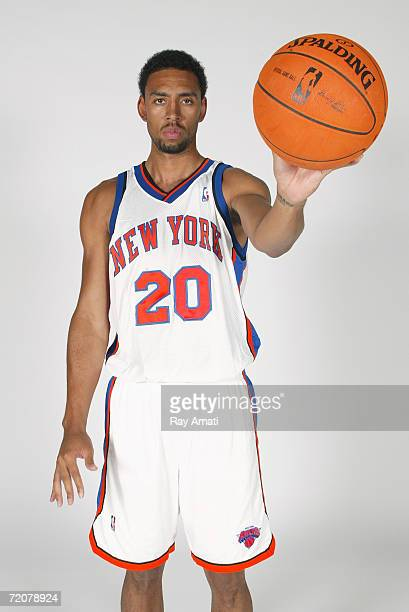 Jared Jeffries of the New York Knicks poses during NBA Media Day at the MSG Training Facility on October 2, 2006 in Tarrytown, New York. NOTE TO...