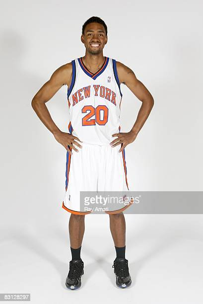 Jared Jeffries of the New York Knicks poses for a portrait during NBA Media Day on September 29 2008 at the Madison Square Garden Training Center in...