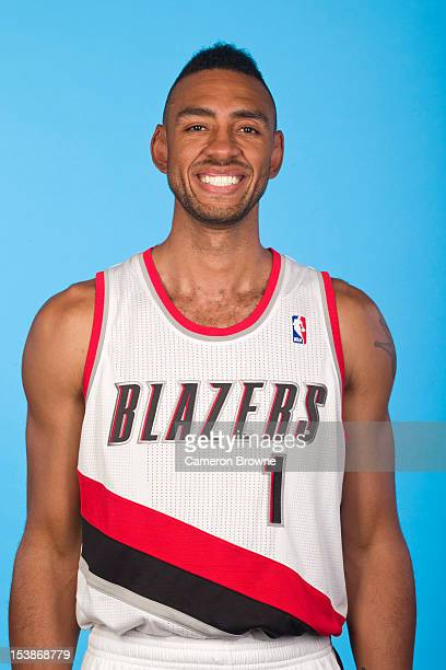 Jared Jeffries of the Portland Trail Blazers poses for a photo during Media Day on October 1 2012 at the Rose Garden Arena in Portland Oregon NOTE TO...